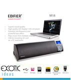 Edifier M18, MP3 Player,  FM, Stereo Speaker with powerful bass effect - Play music from SDHC Card and USB thumb drive