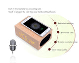 Bluetooth Wooden clock MP3 player+stereo speaker NFC+CRS+Touch with QI wireless charging for iPhone X and Samsung Smart Phones