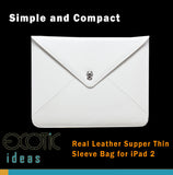 Genuine Leather iPad 2 Sleeve Bag Case, Simple Compact Design, Anti-Slid