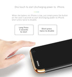 iPhone protective case with power bank built-in, compact design, thin and light for iPhone 7/7 Plus, 6/6S, 6Plus/6S Plus