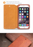 Genuine Leather Cases/Covers, Stand Feature for iPhone 6/6S,6S/6S Plus-Free Gift-Tempered Glass Film