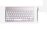 BOW Bluetooth 3.0 Ultra Thin (4mm) Keyboard for Apple iOS, Windows OS, Android OS. Delicate Color Choices: Silver, Champagne, Bamboo, White, Black, Bundled with Stand
