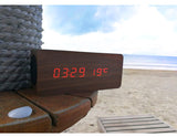 Wooden Bluetooth MP3 Player + speaker with LED display, Time, calendar, temperature..etc.