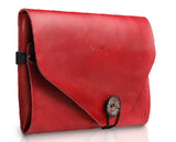 Genuine Leather Envelope Style Sleeve Bags for iPad MIni,2,3,4, Multiple Function Tablet Bags.