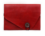 "d-park Genuine Leather Envelope Style Sleeve Bags for iPad Air, iPad Air 2. Fits to 8""-9.7"" Tablets"