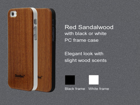Wooden iPhone 5, 5S Case Skin - Rosewood + PC Frame -  Wear resistance, No cracking