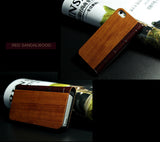 Wood+PU Leather Cover for iPhone 5/5S/5C. Superior hand-polished. Sandalwood, Rosewood, Cherrywood