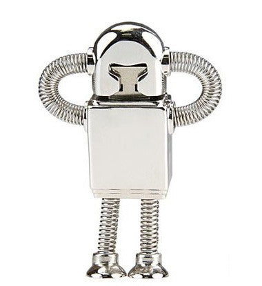 8GB USB Flash Memory Stick, Silver Robot