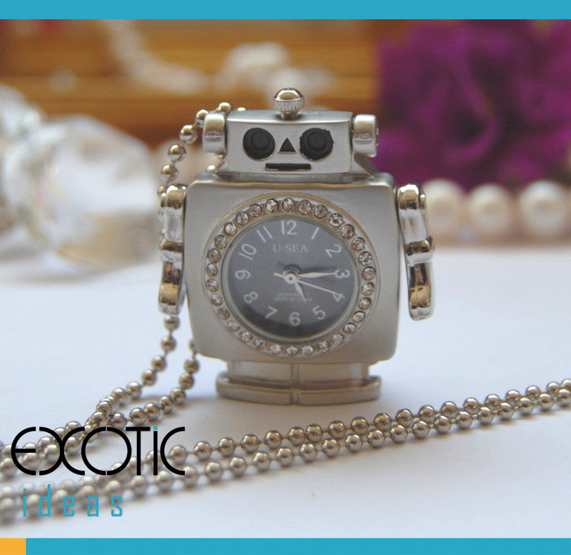 8GB USB Flash Memory Stick, Robot with Quartz Watch and Crystal Set