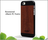 Wooden Case Skin for iPhone 5, 5S  - Rosewood + PC Frame - Wear resistance, Anti cracking