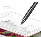 1.45mm ultra-fine pure copper head high precision sensitivities active capacitive stylus pen for iPad, Samsung, Surface...etc. 99% Tablets compatible.