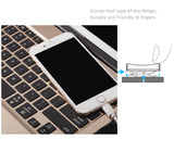 "Illuminating 7 Colors Backlit Bluetooth Keyboard for iPad Pro 12.9"" 1st Generation. Turn your iPad to a MacBook. With Aluminum Back Shell and Power Bank Feature"