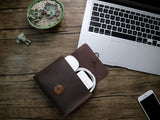 "Genuine Leather Envelope Sleeve for MacBook Air, Pro, Retina 11.6"",12"",13.3"",15.4"", iPad Pro 12.9"", 10.5"" Landscape"