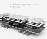 Bluetooth Keyboard foldable design. Aviation Standard Aluminum Fits to Apple iOS, Windows, Android.