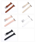 Genuine Leather Watch Bands For Apple Watch Generation 6,5,4,3,2,1, 38, 40, 42, 44 mm -  Thin Wrist Design
