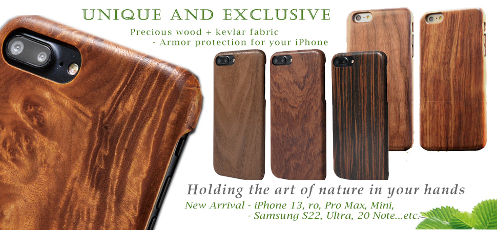 Natural Wood LED Clock - Date/time/temp display - Sound control - 3 alarm sets - Various sizes, colors for options