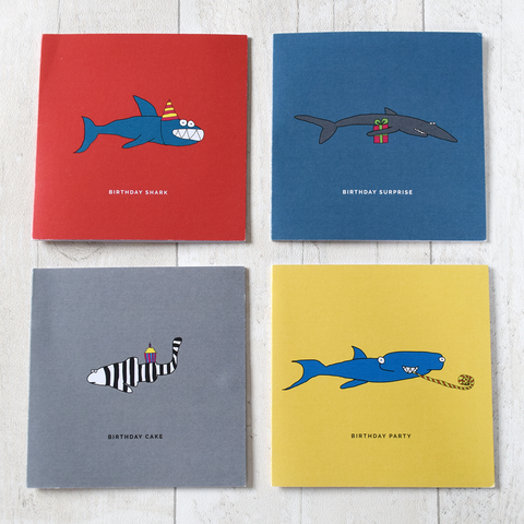 Shark Gang Birthday Cards