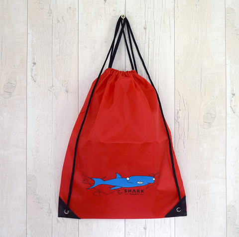 Shark Gang Drawstring Bag