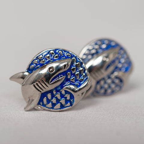 Blue Shark Cufflinks