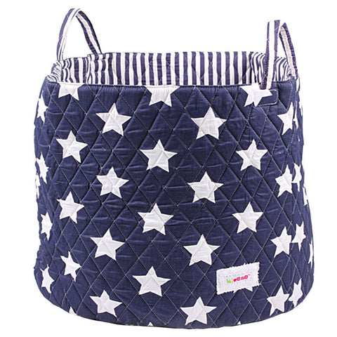 Navy star storage basket