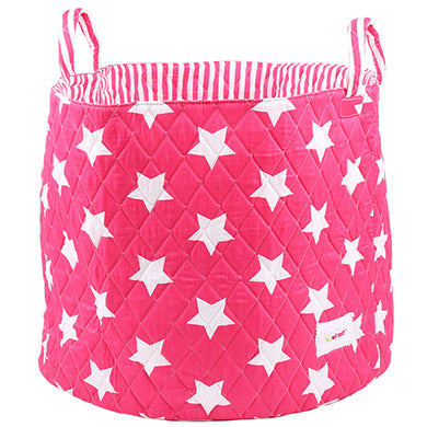 Fuchsia star storage basket