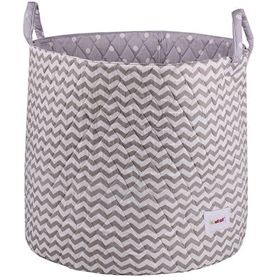 Grey wave storage basket