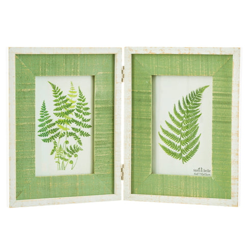 Green double photo frame