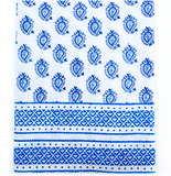 Tablecloth - blue paisley