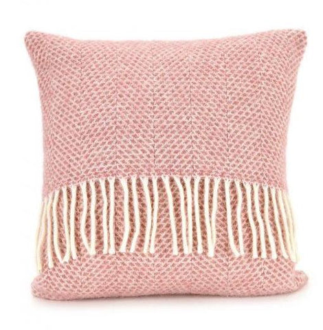 Pink wool cushion
