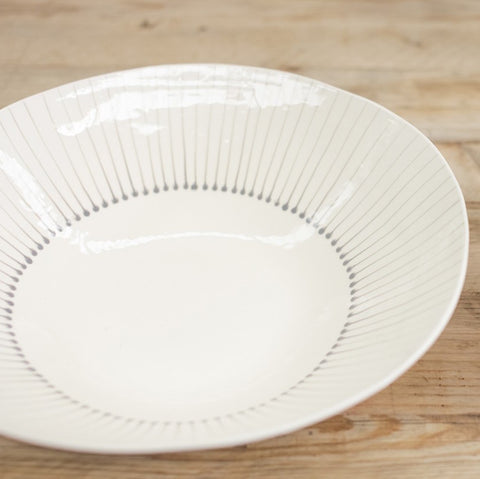 Grey and white serving bowl