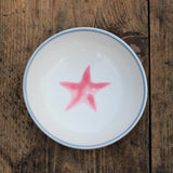 Ceramic children's bowl - grey and pink