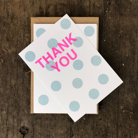 Thank you cards - teal spot