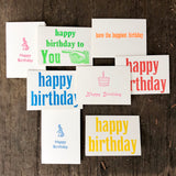 Birthday cards - boxed set