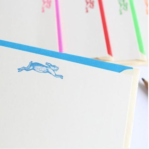 Correspondence cards - hare