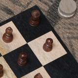Chess and draughts board