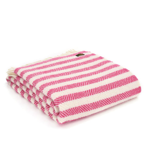 Candy cane stripe throw