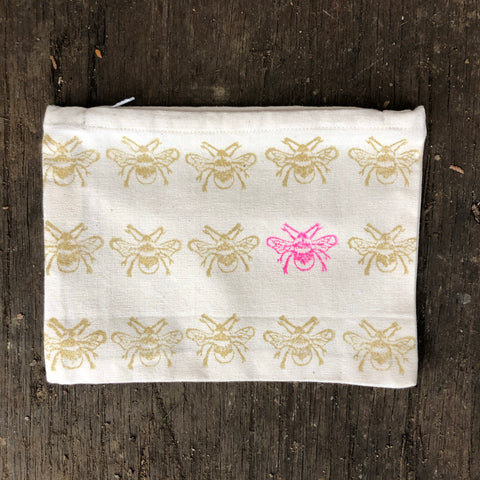 Gold bee pouch
