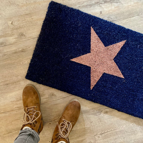 Copper star doormat