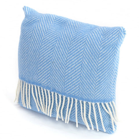 Blue wool cushion