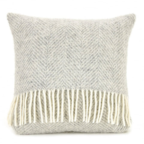 Grey wool cushion