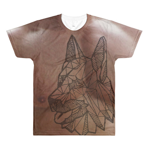 Feel the muscles German Shepherd Tatoo All-Over Printed T-Shirt