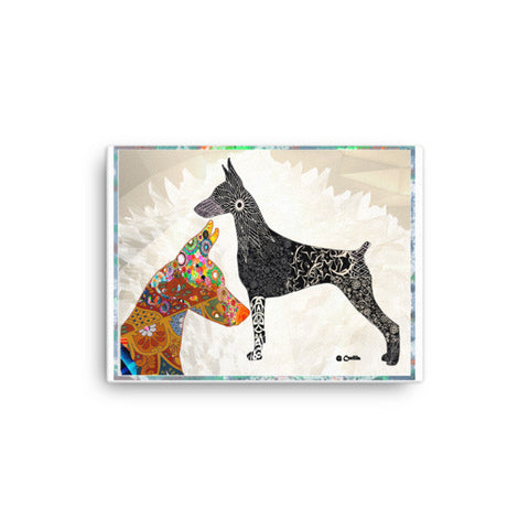 Doberman Pinscher  Abract call Canvas