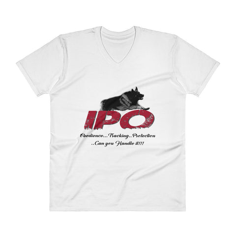 IPO, German Shepherd V-Neck T-Shirt