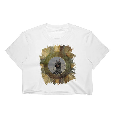 Doberman in my life Women's Crop Top