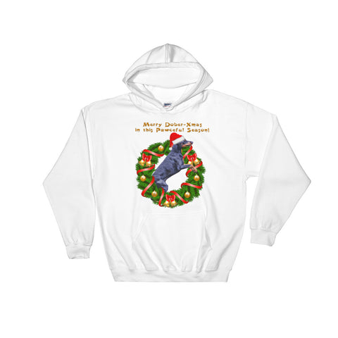 Doberman Christmas season Hooded Sweatshirt