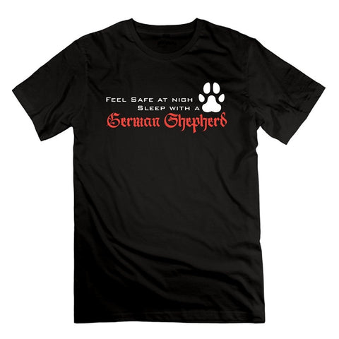 Feel safe at night Sleep With a GSD t shirt