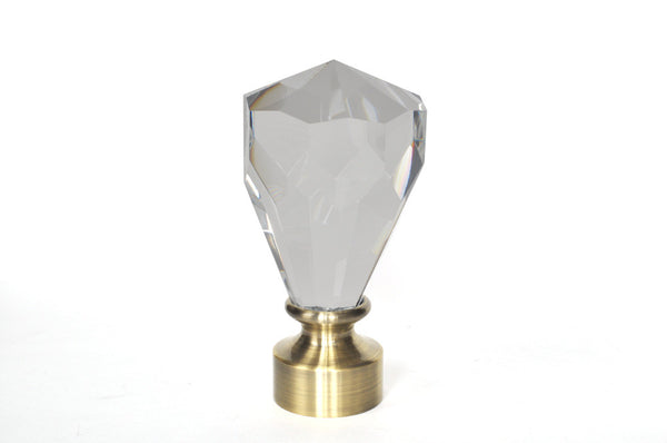 "Connections 1 3/8"" Finial - Crystal"