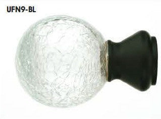 Trax Urban Collection Finials - Crackled Glass - UFN9