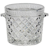 1960s Crystal Waffle Design Glass Ice Bucket