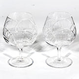 Brandy Snifters by Rogaska Crystal, Pair